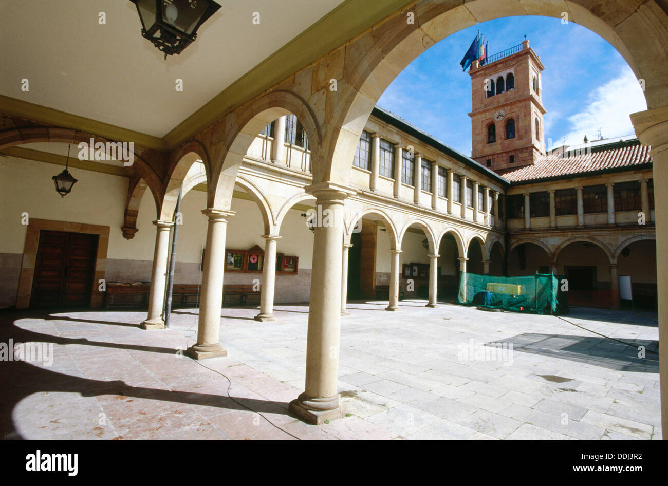 Courtyard of the Faculty of Law. University of Oviedo. Oviedo. Spain - Stock Image
