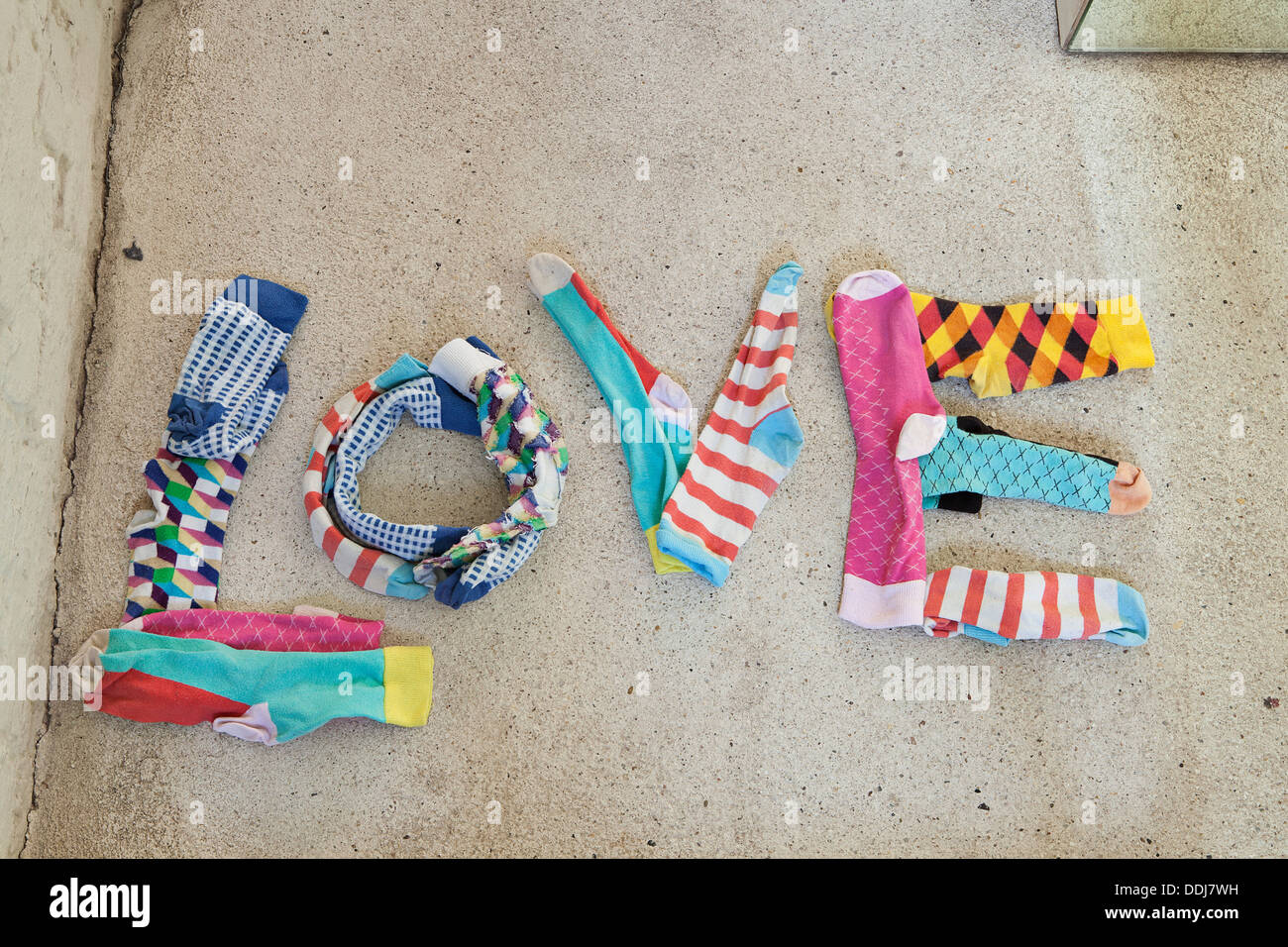 Text form of socks - Stock Image
