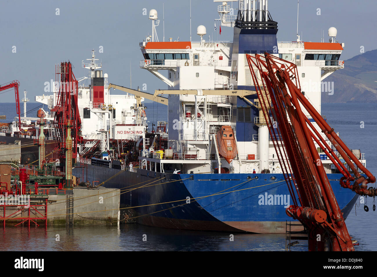 Tanker. Port of Bilbao, Biscay, Basque Country, Spain - Stock Image