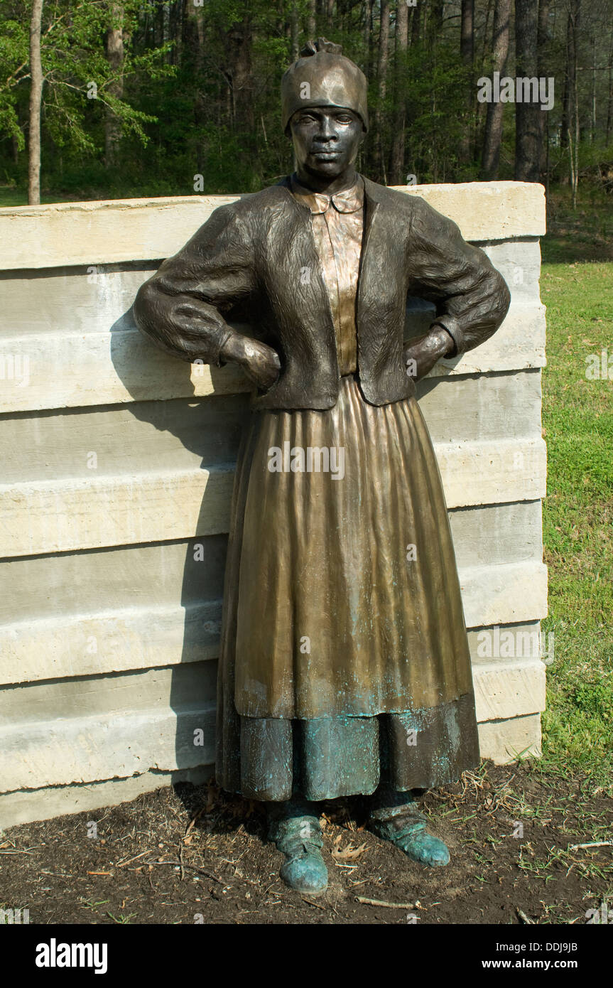 Statue of a freed slave woman at Union Army's Contraband Camp in Corinth MS, 1862-1864. Digital photograph - Stock Image