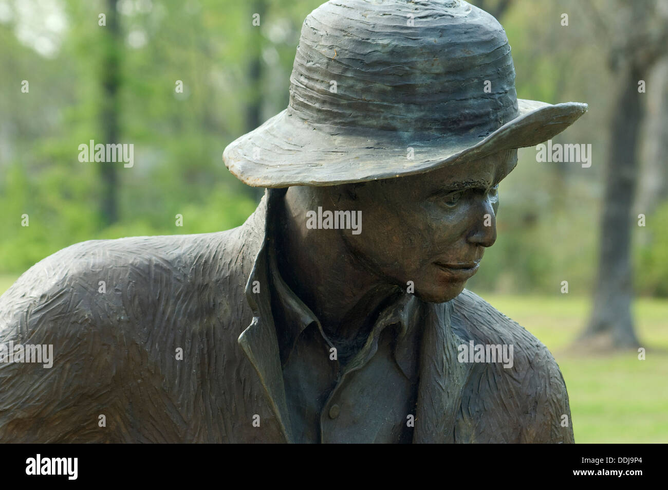 Statue of a freed slave at Union Army's Contraband Camp in Corinth MS, 1862-1864. Digital photograph - Stock Image