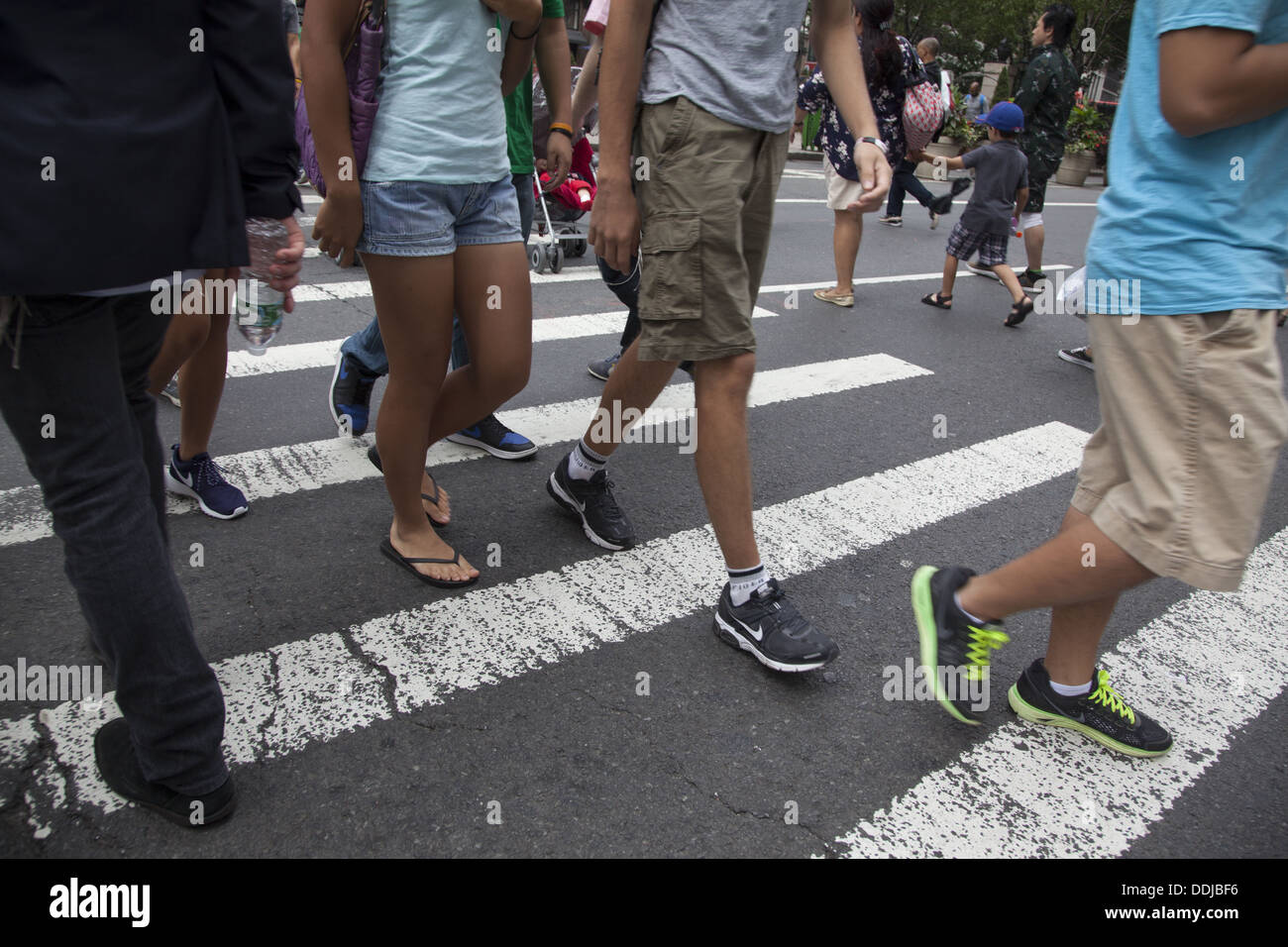Crosswalk, Times Square, Manhattan, NYC. - Stock Image