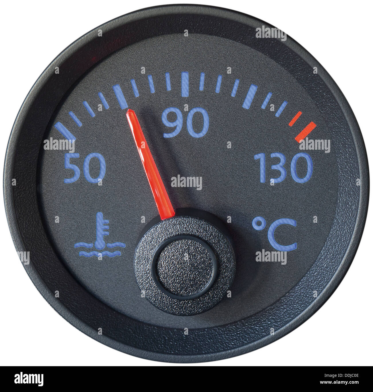 Vehicle dashboard on white background, close up - Stock Image