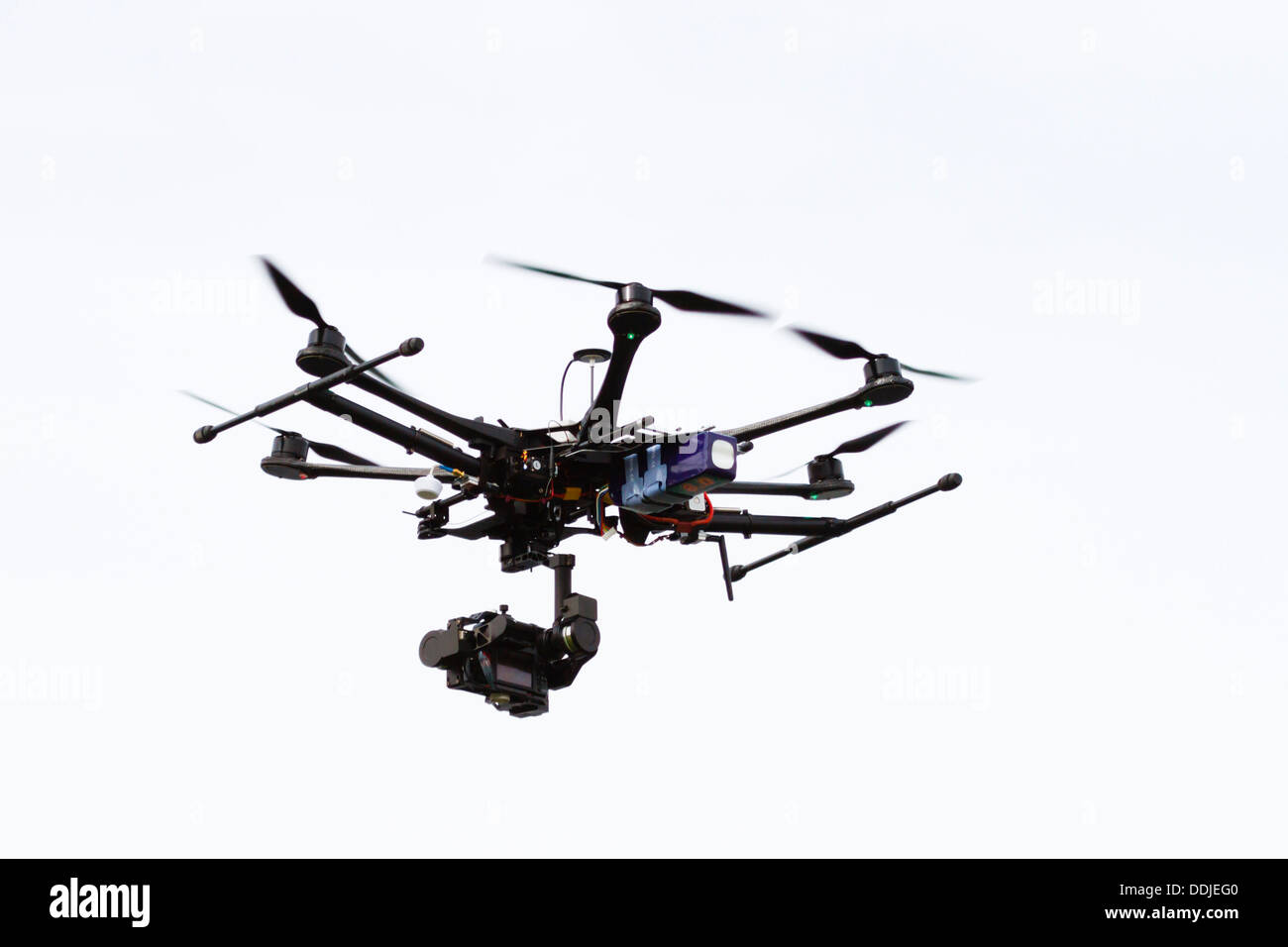 hexacopter Surveillance drone as used by Sky Sports - Stock Image