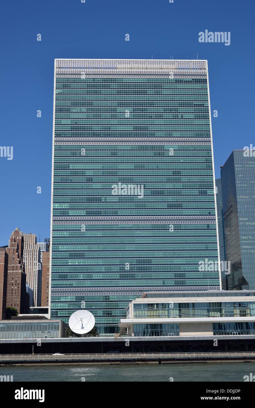 United Nations Headquarters, Manhattan, New York City, New York, USA - Stock Image