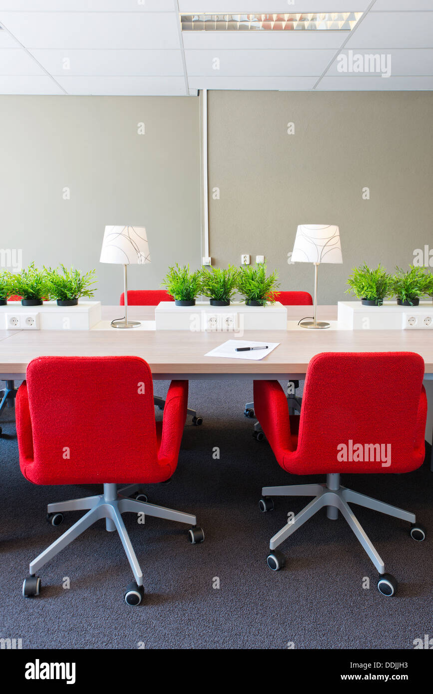 shared office space design. Flexible Work Spaces With Power Outlets In A Modern Open Office Interior  Design - Stock Image Shared Space S