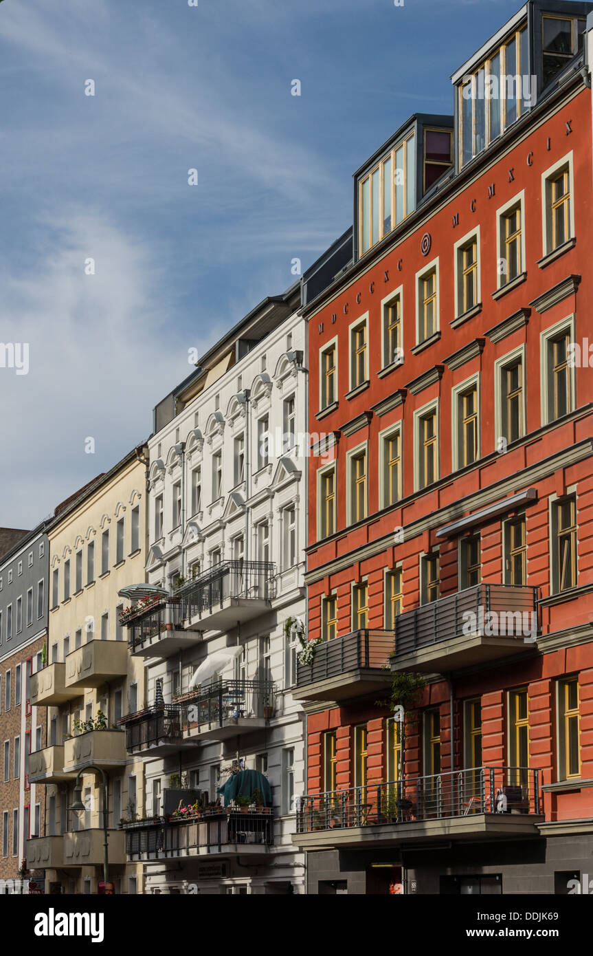 Berlin Germany Apartment Houses In Stock Photos & Berlin ...