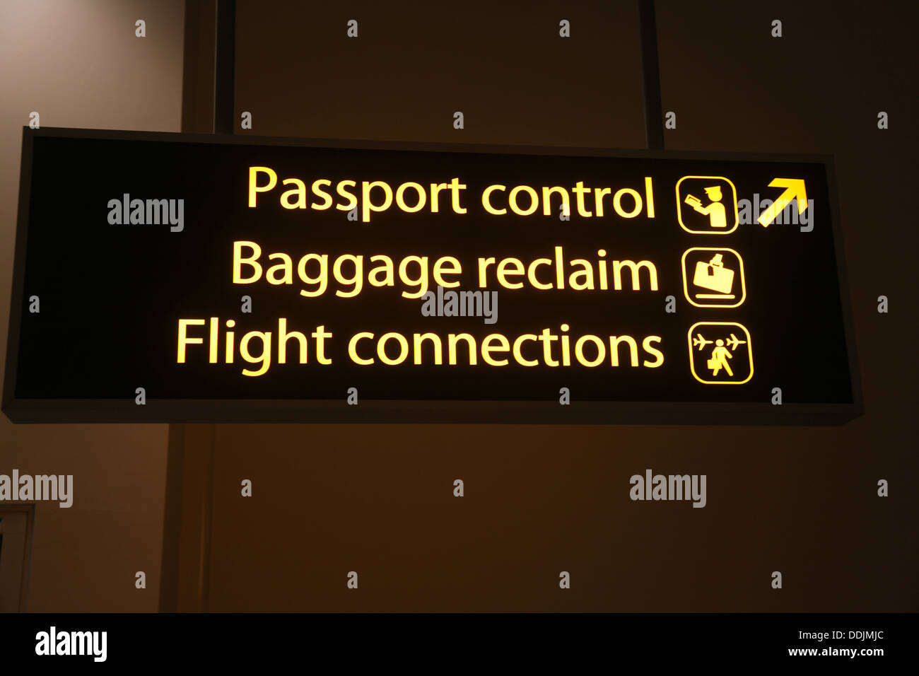 Passport Control - Stock Image