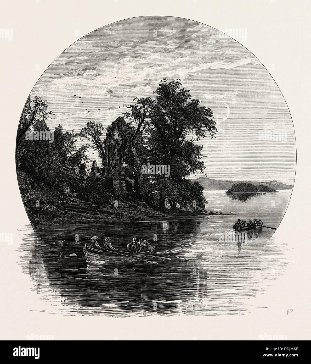 Innisfallen, Killarney, IRELAND - Stock Image