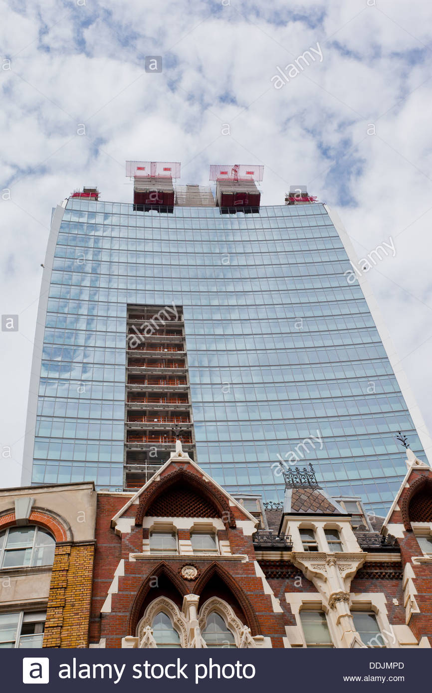20 Fenchurch Street, also known as The Walkie-Talkie and The Pint because of its distinctive shape. City of London - Stock Image