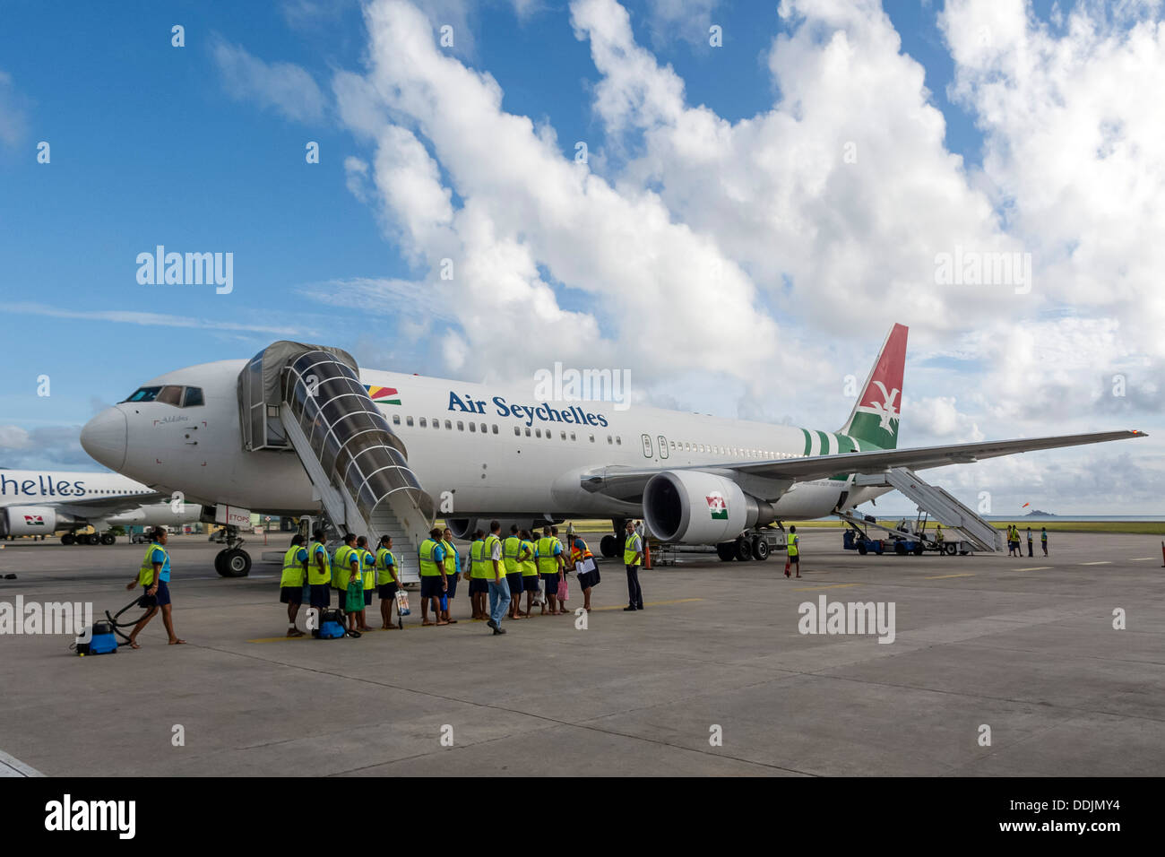 Air Sechelles, Praslin Airport, Seychelles - Stock Image