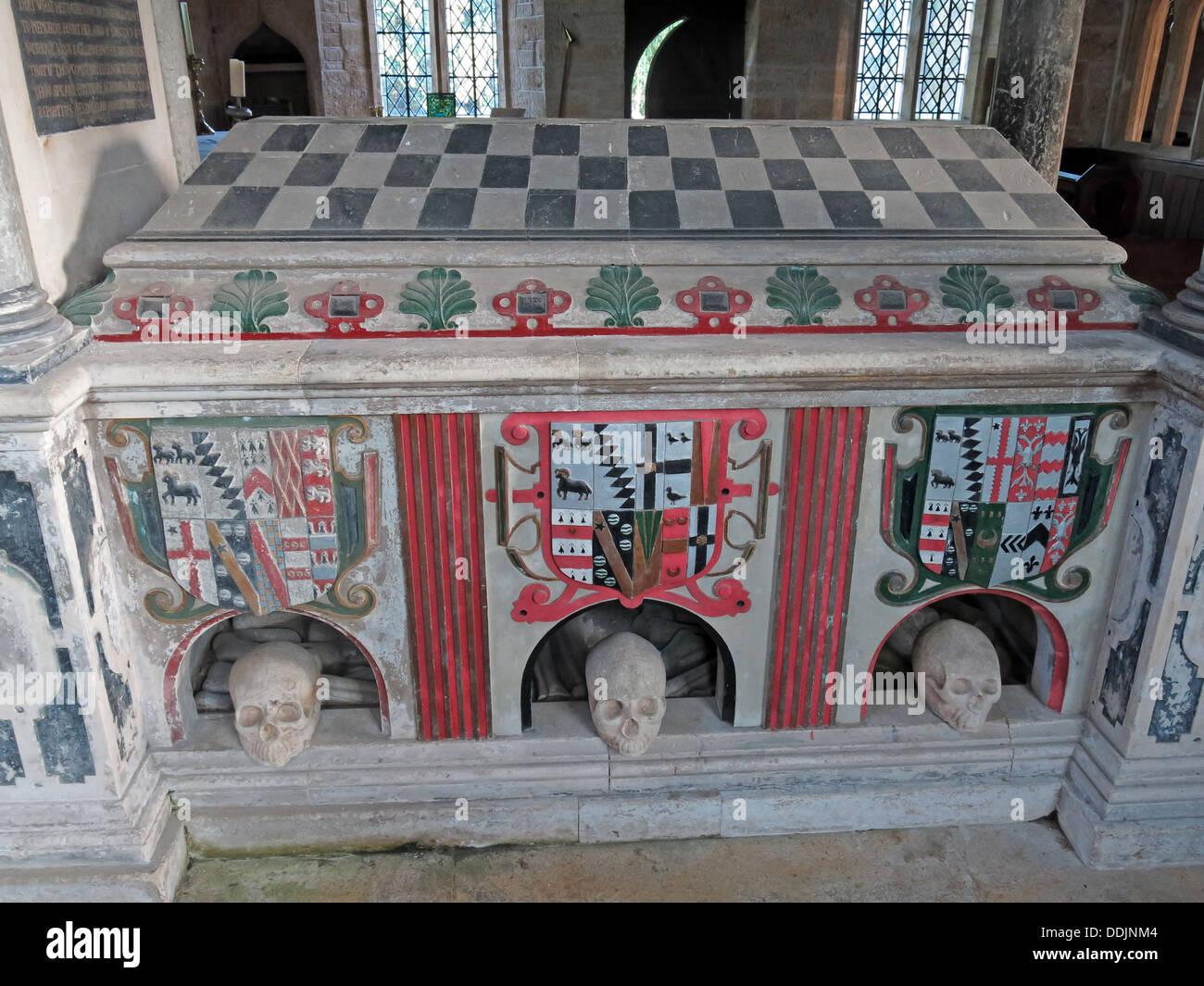 Tomb of John Sydenham, Brympton d'Evercy - Stock Image