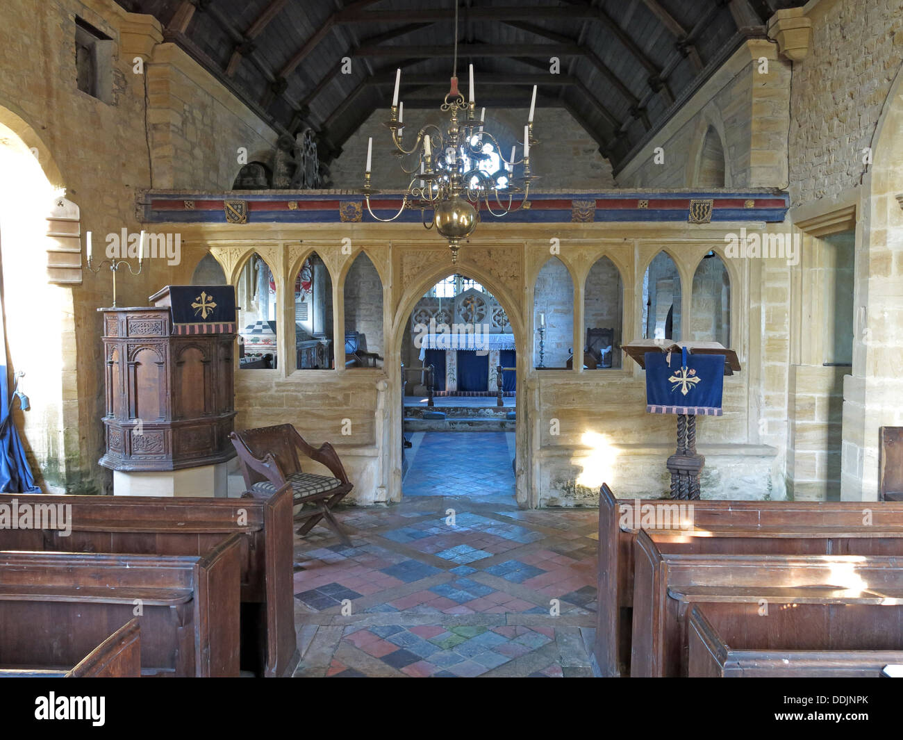 Chapel at Brympton d'Evercy, Yeovil, Somerset, England, UK - Stock Image