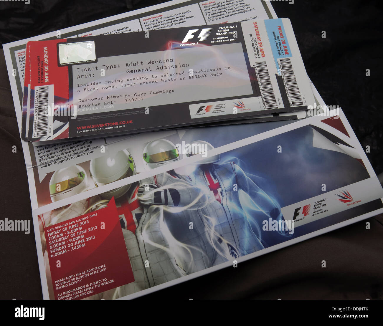 British GP June 2013 FIA Tickets from Silverstone England UK - Stock Image