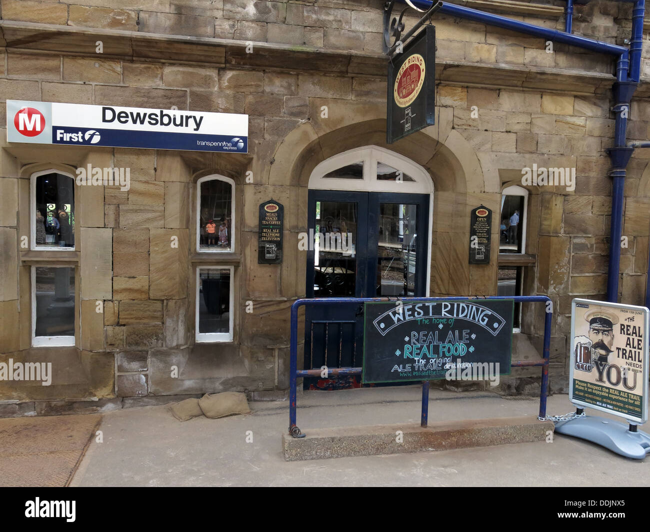 Dewsbury Railway Station - Stock Image
