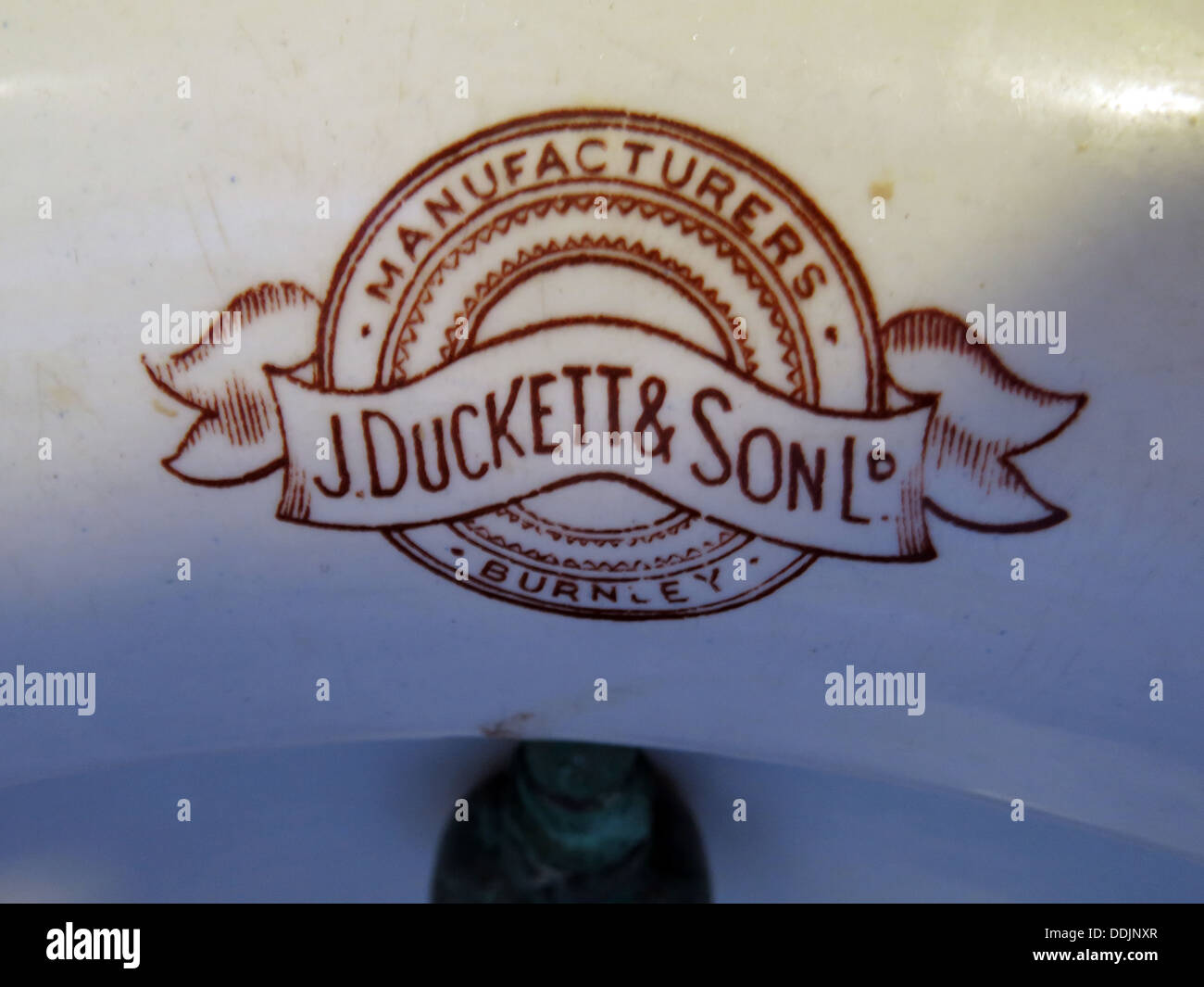 J Duckett & Son Ltd Urinal, Manufacturer , Burnley, North West England, UK - Stock Image
