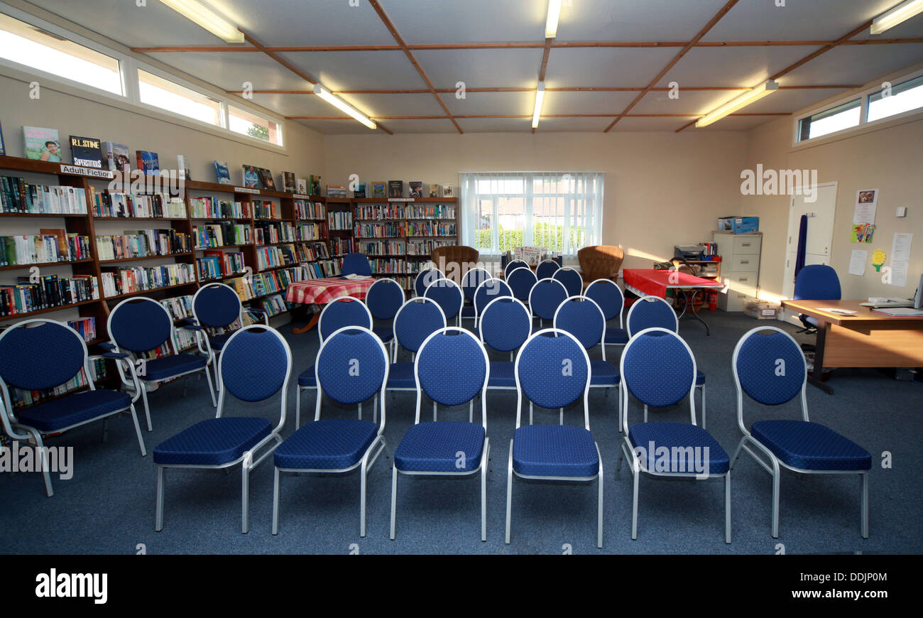 Grappenhall Community Library meeting facilities, South Warrington, Cheshire, WA4 2PE - Stock Image