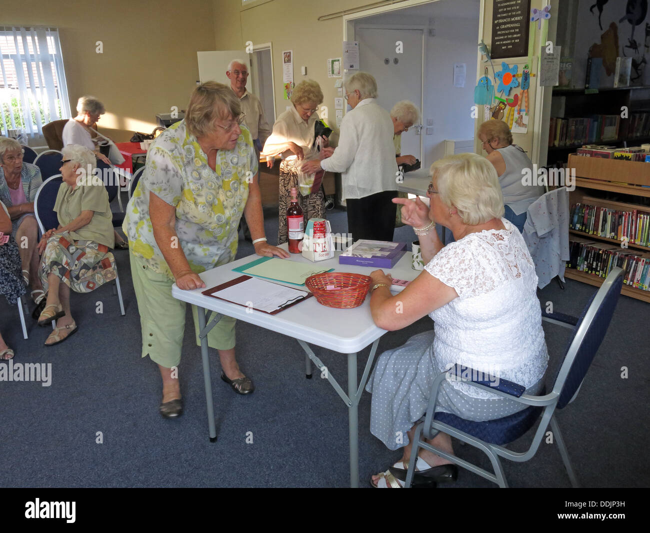 WI Group at Grappenhall Community Library, Warrington, Cheshire, England, WA4 2PL - Stock Image