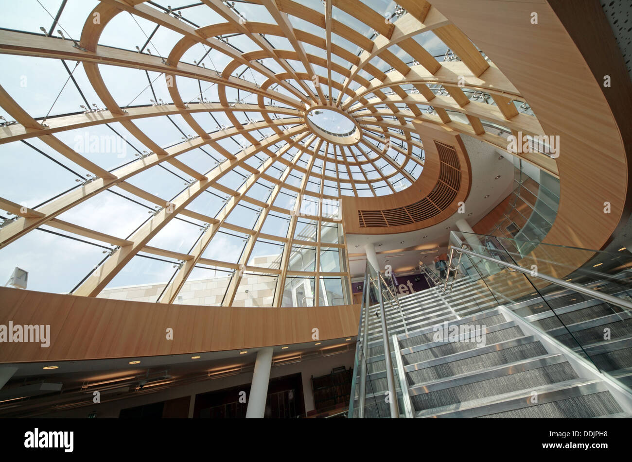 interior of the new Liverpool central library Merseyside England UK Stock Photo