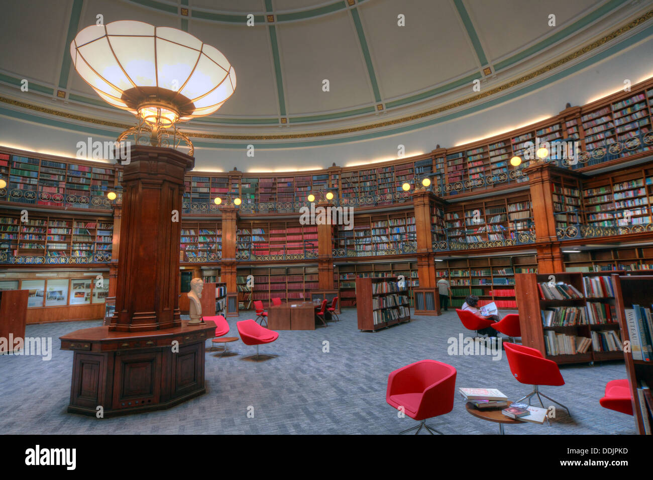 Liverpool central library Picton circular reading rooms - Stock Image