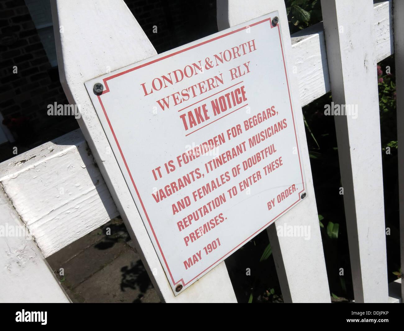 London & North Western Railway Sign - Stock Image