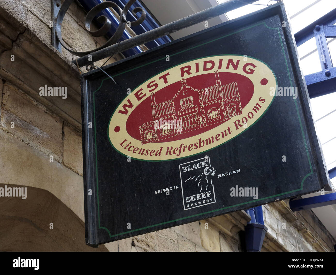 West Riding refreshment rooms Dewsbury sign, Station,West Yorkshire, England UK - Stock Image