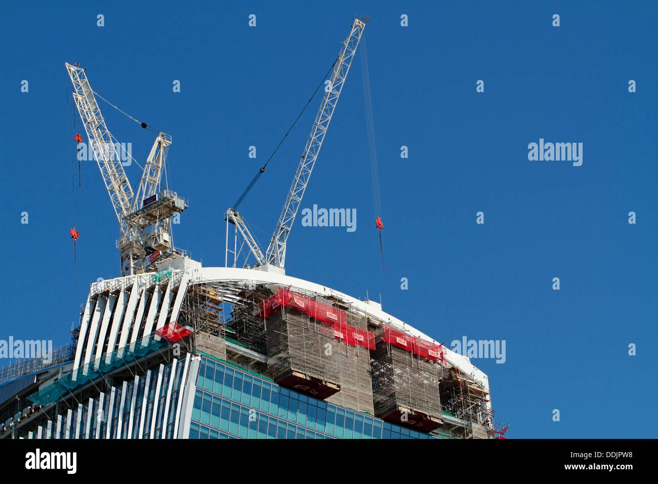 The 'Walkie Talkie' 'The Pint' while still under construction, 20 Fenchurch Street, London England, United Kingdom - Stock Image