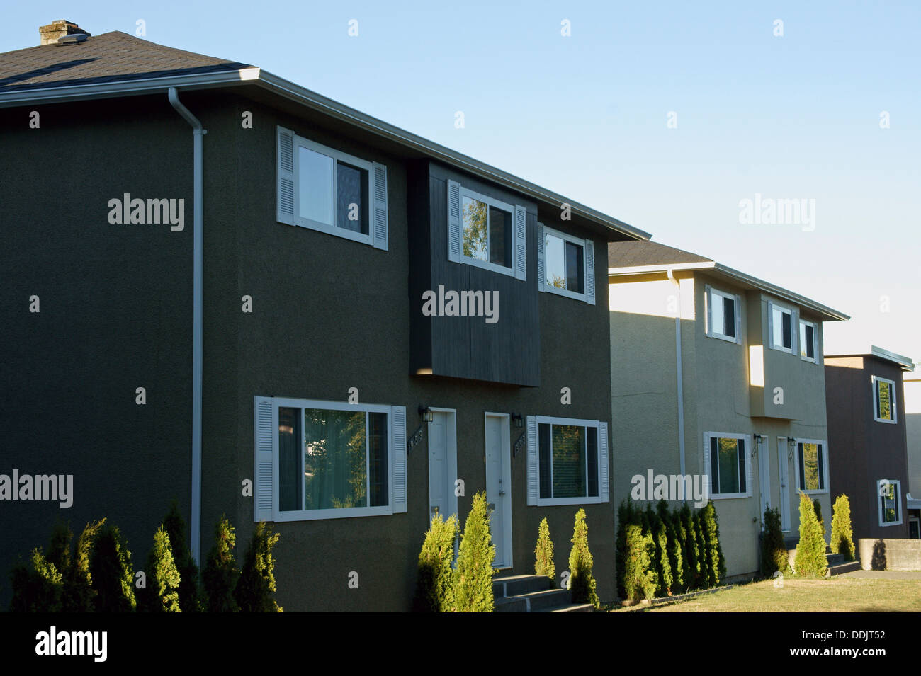 Well-kept rental housing units in Vancouver, BC, Canada Stock Photo