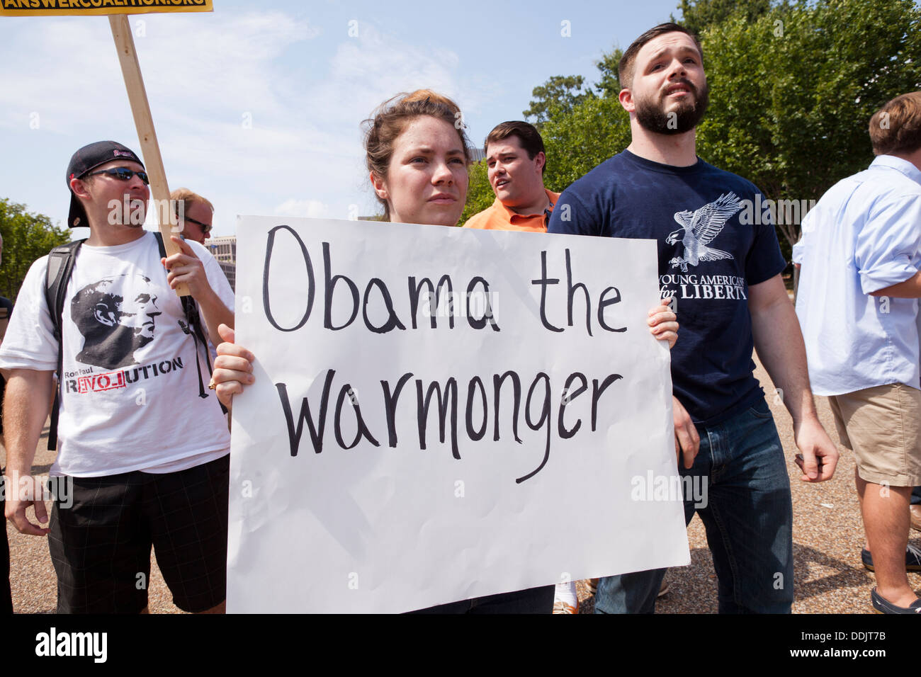 Obama's foreign policy opponent - Washington, DC USA - Stock Image