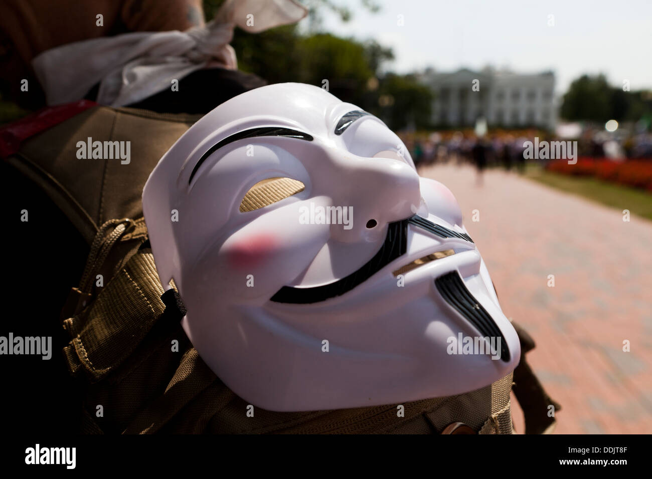 Guy Fawkes - Anonymous mask - Stock Image