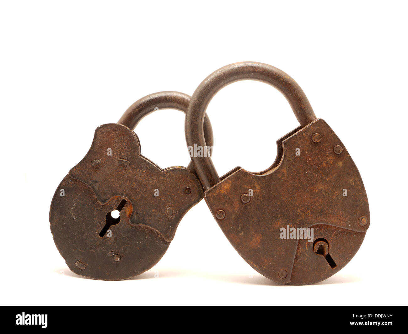 the old locks on a white background stock photo 60036983 alamy
