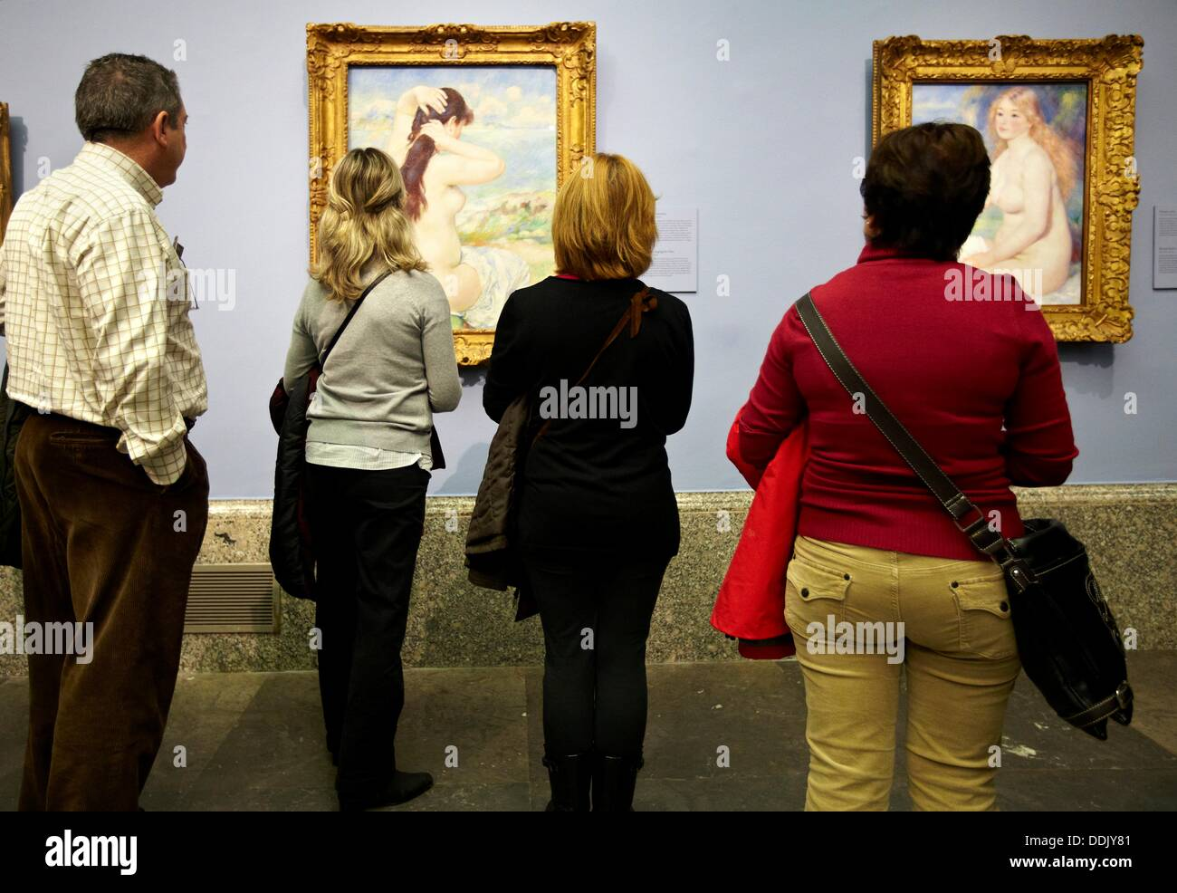 Passion for Renoir, monographic exhibition. Prado Museum, Madrid, Spain. - Stock Image