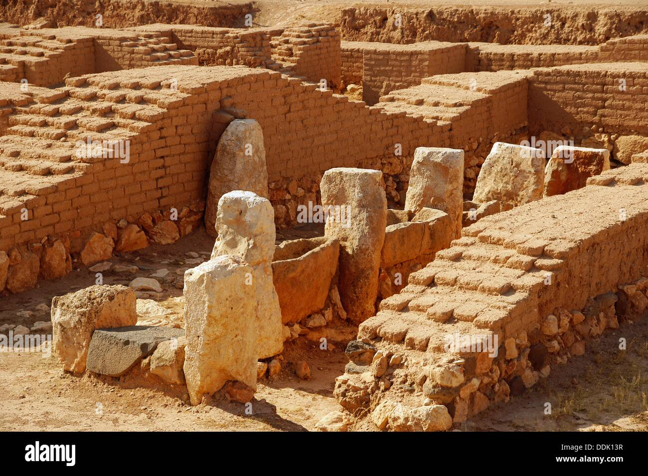 Syria, Ebla, wool dying area, at the Royal Palace, 4.000-3.000 BC - Stock Image
