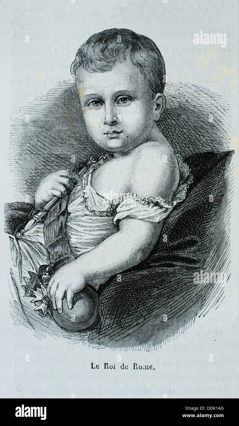 France, History, 19th Century, Napoléon François Joseph Charles Bonaparte, Duke of Reichstadt 20 March 1811 - 22 Stock Photo