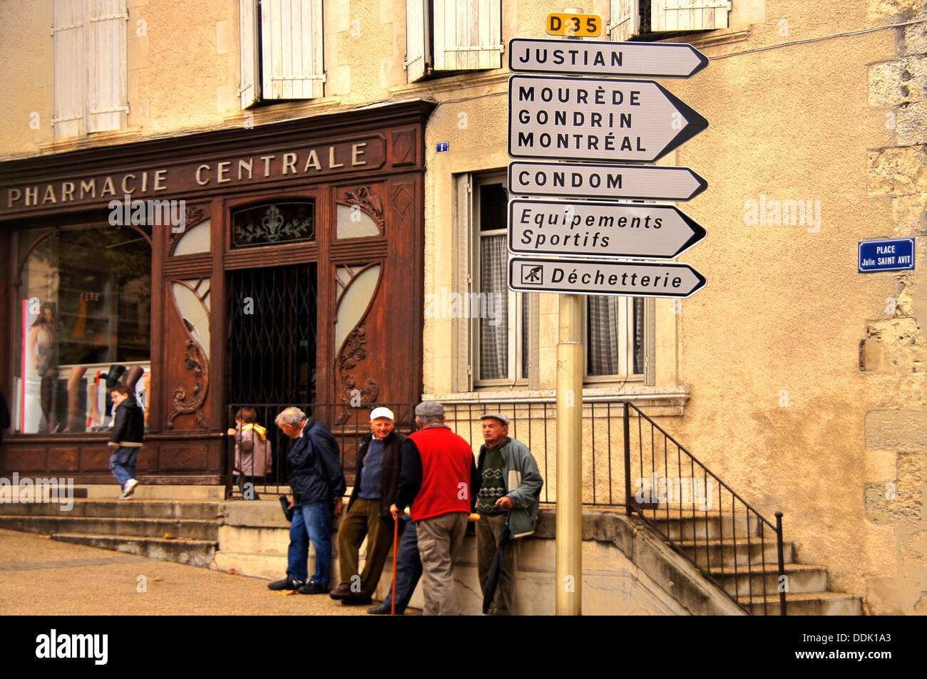 France-Midi Pyrennées- Gers- at Vic Fesensac. - Stock Image