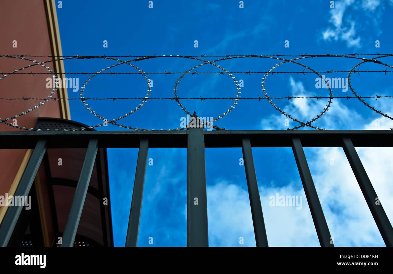 Razor wire Security - Stock Image