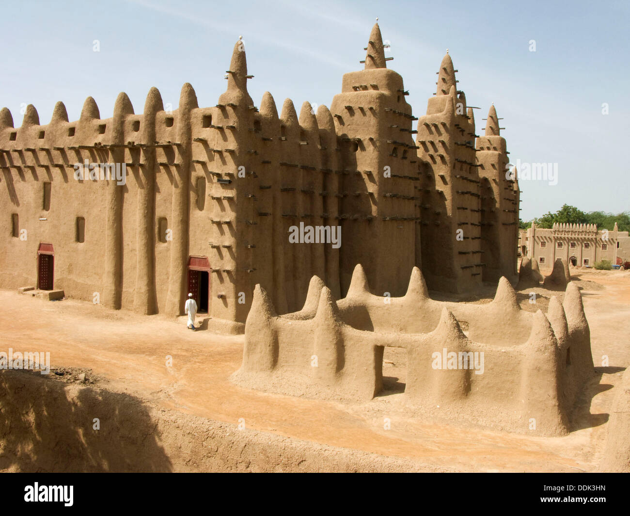 Great Mosque. Djenné. Mopti region. Niger Inland Delta. Mali. West Africa. Stock Photo