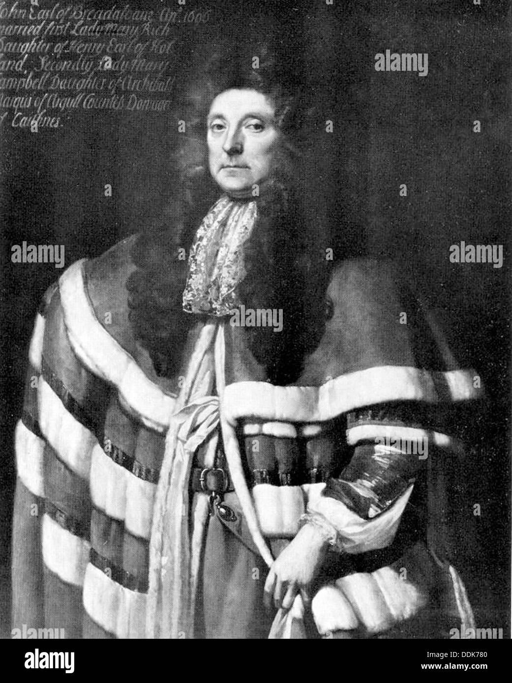 John Campbell, 1st Earl of Breadalbane (1635-1717) - Stock Image