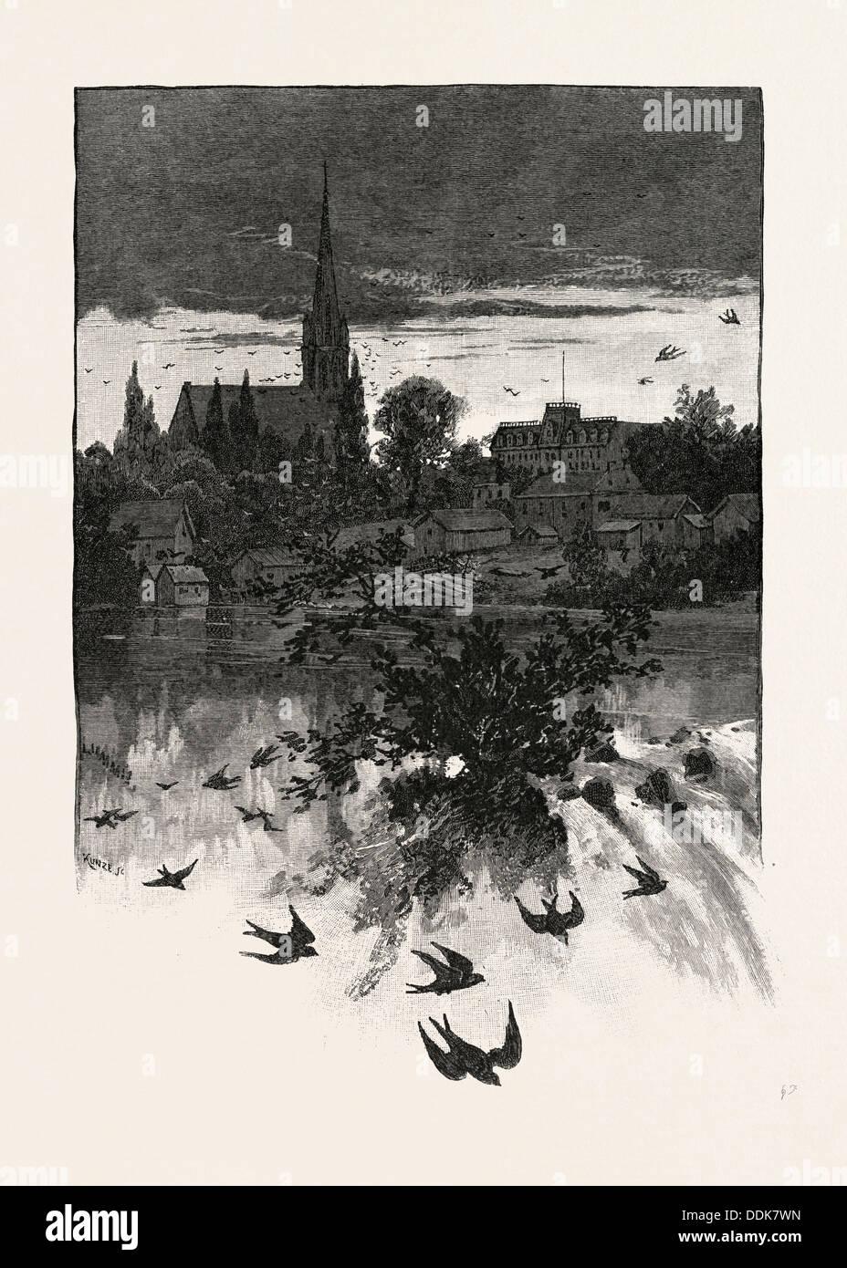 STRATFORD, CANADA, NINETEENTH CENTURY ENGRAVING - Stock Image