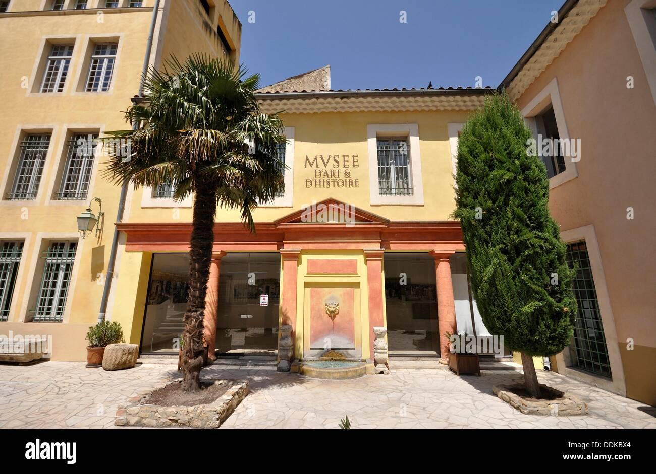 France, Orange, Art History Museum Stock Photo