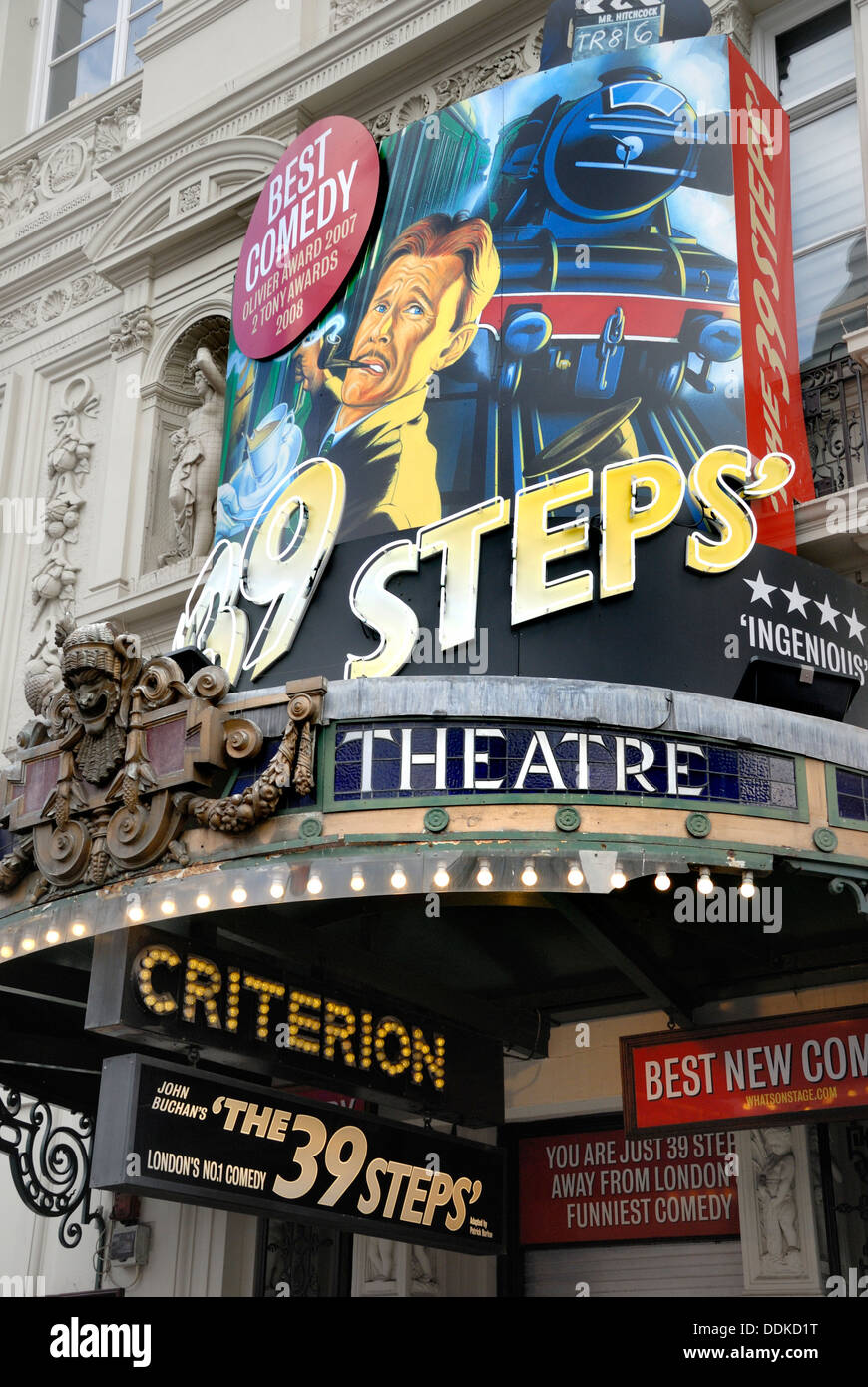London, England, UK. Criterion Theatre in Piccadilly Circus - The 39 Steps, (2013) - Stock Image