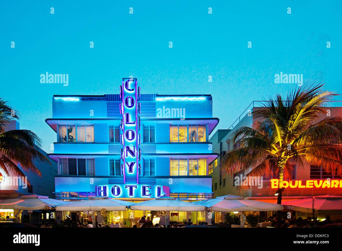 colony hotel ocean drive south beach art deco district miami