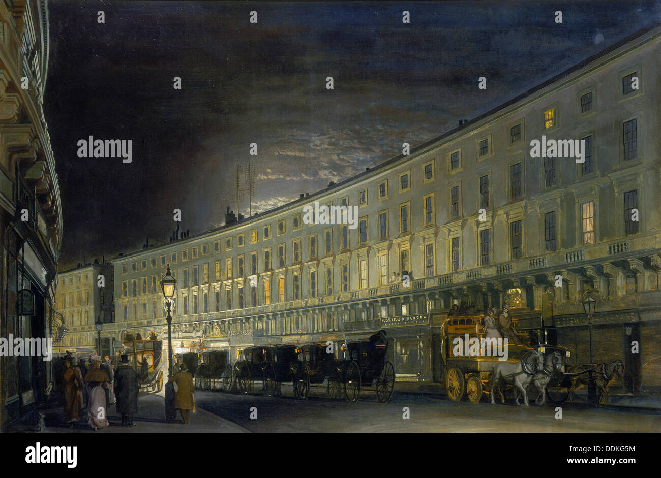 'The Regent Street Quadrant at Night', c1897.  Artist: Francis LM Forster - Stock Image
