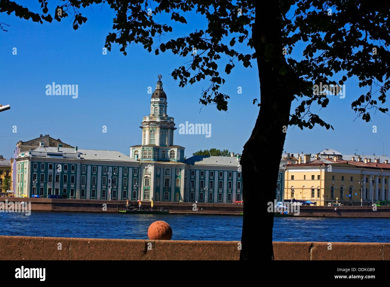 Peter«s the Great«s Kunstkammer Museum of Anthropology and Etnography of the World and Neva River  St  Petersburg  Russia. - Stock Image