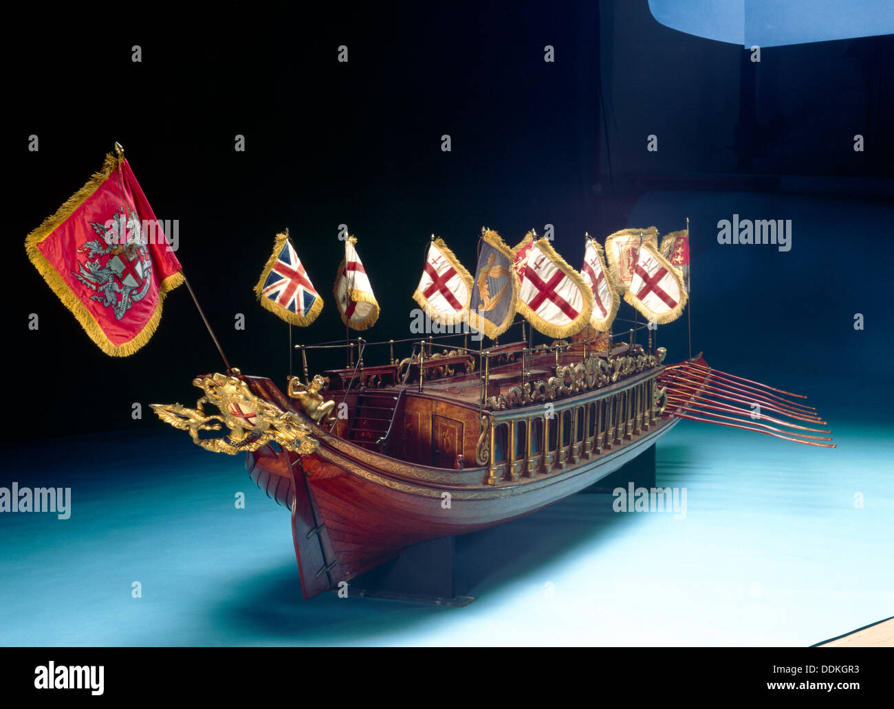 Model of the barge of the Lord Mayor of London, 1807. Artist: Searle & Godfrey - Stock Image