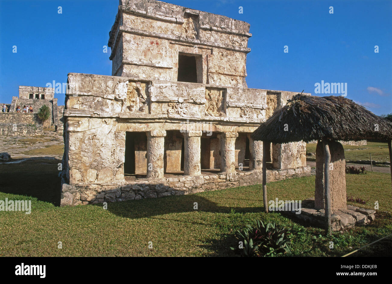 Temple of Frescoes (built between 1200 and 1524), Tulum. Yucatan, Mexico - Stock Image