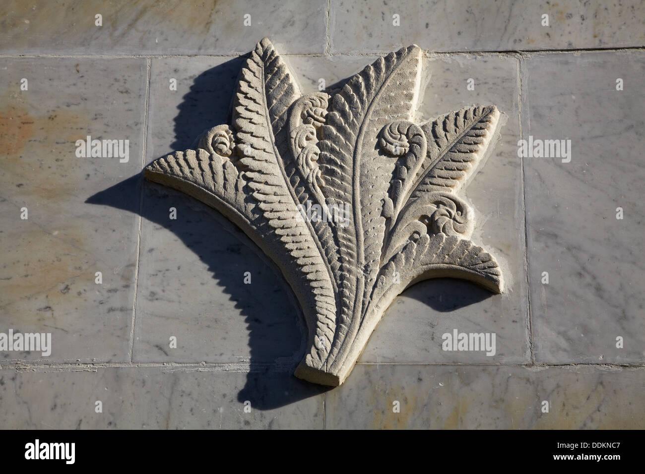 New Zealand Centennial memorial detail, Signal Hill Lookout, Dunedin, Otago, South Island, New Zealand - Stock Image