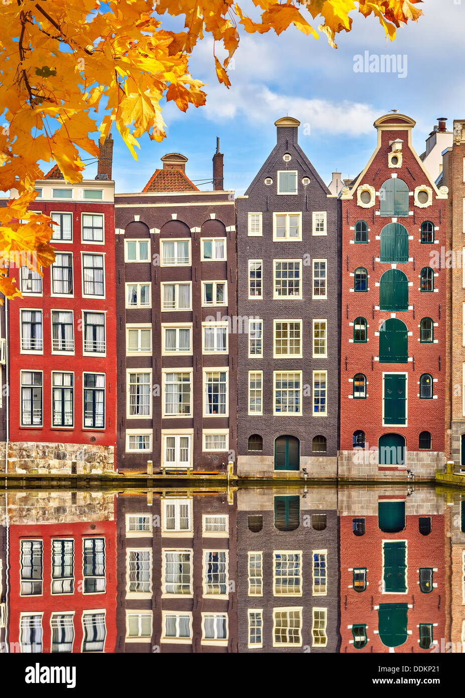 Old buildings in Amsterdam - Stock Image