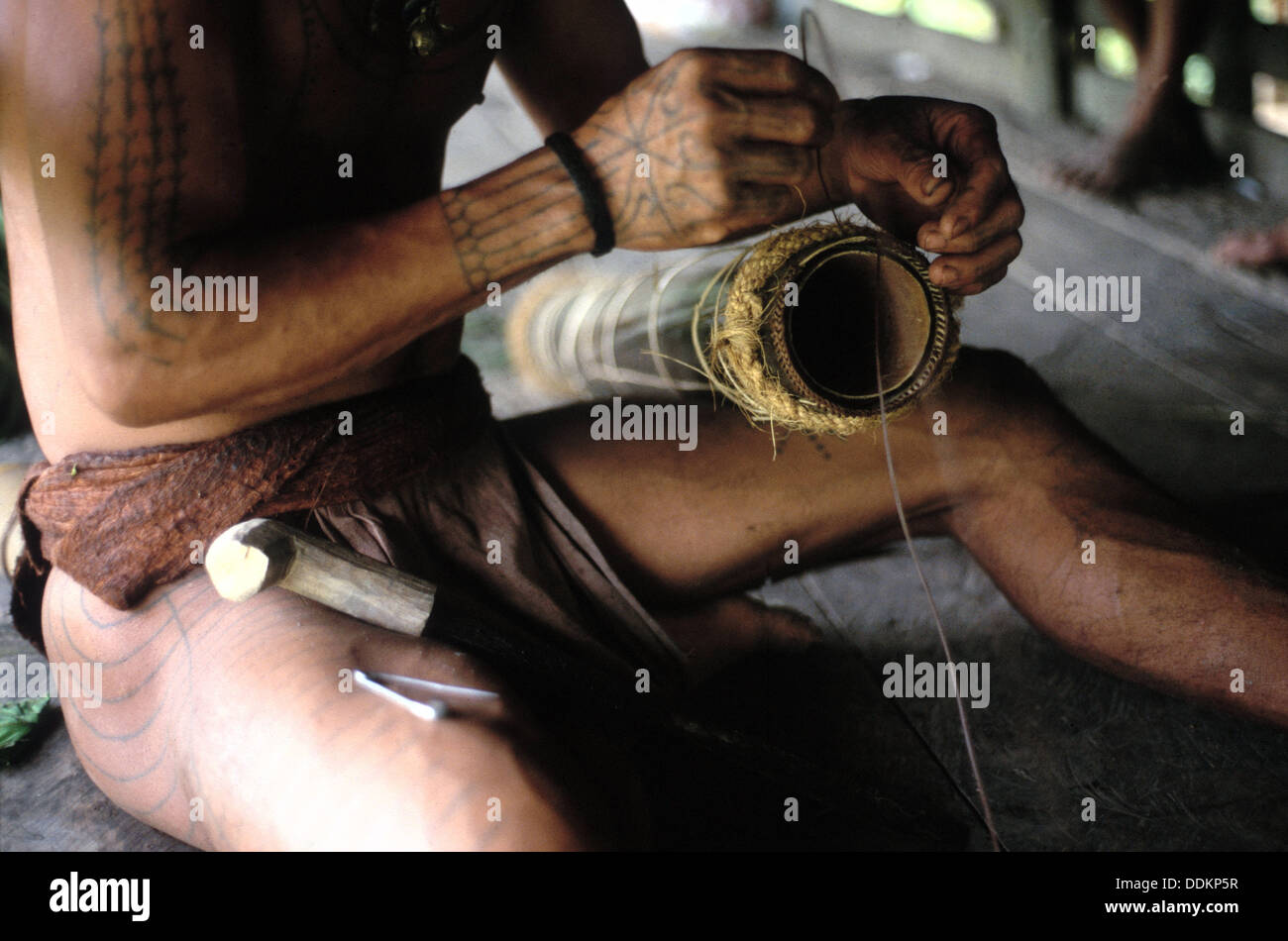 Craftmanship. Siberut. Mentawai Islands. Indonesia - Stock Image