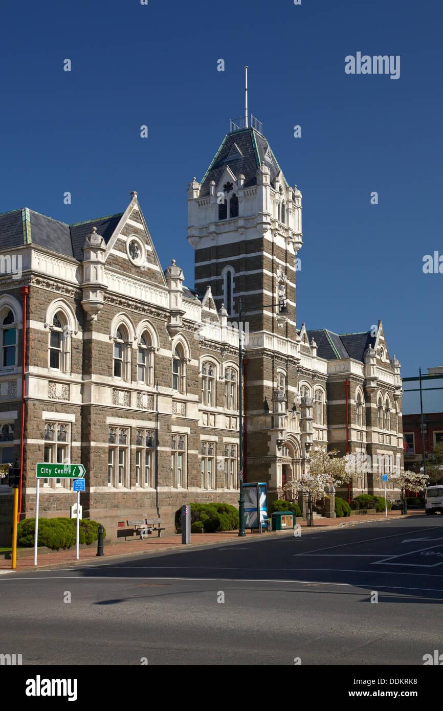Historic Law Courts, Dunedin, South Island, New Zealand - Stock Image
